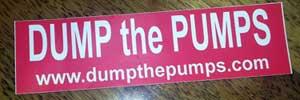 dump-the-pumps-bumper-stkr