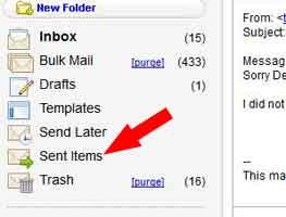 sent mail folder