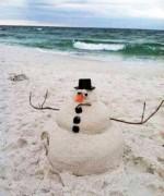 snowman-sand